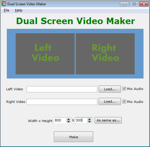 Dual Screen Video Maker